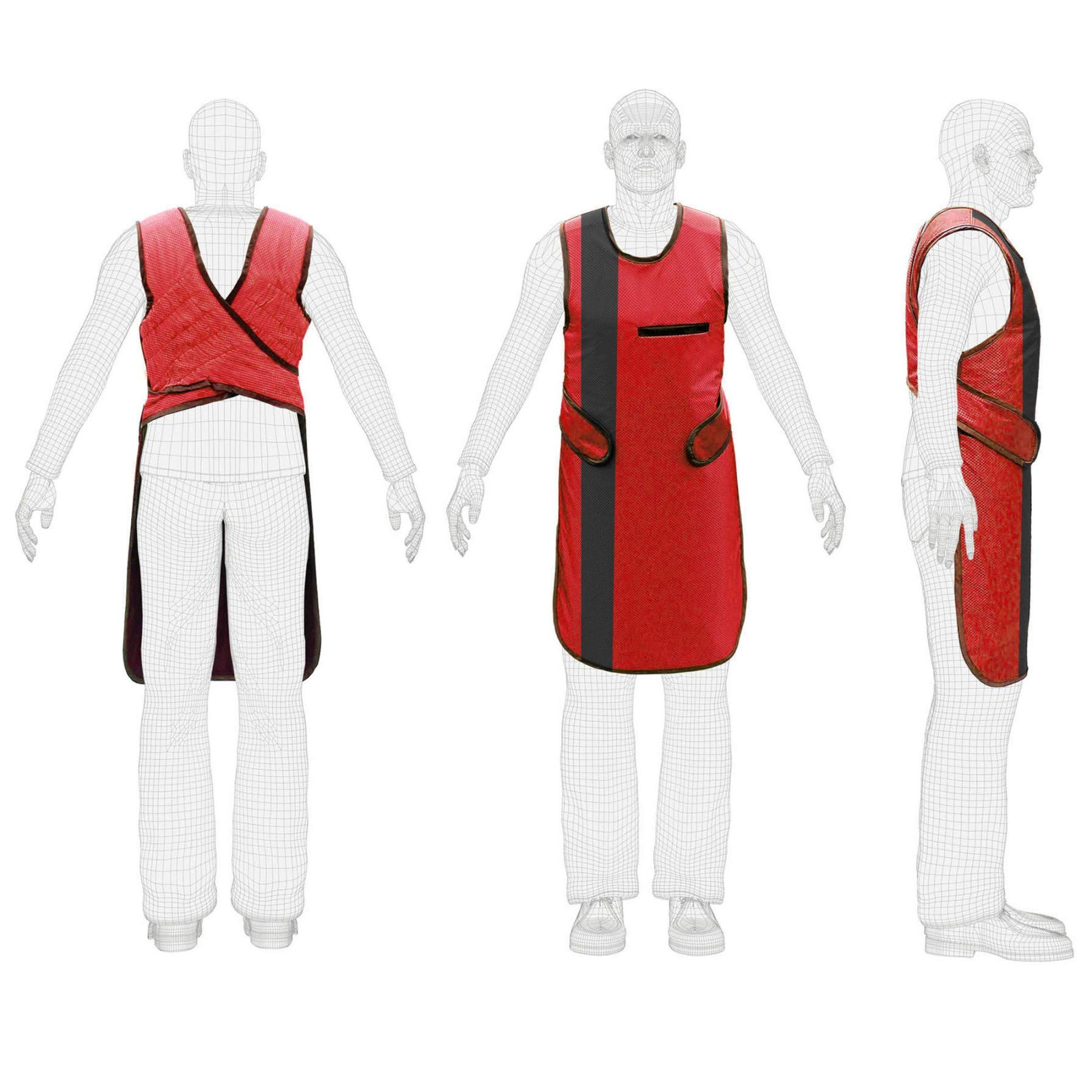 X Ray Radiation Protection Lead Apron 0.5mm Pb Lead Equivalent (Color Red & Black)
