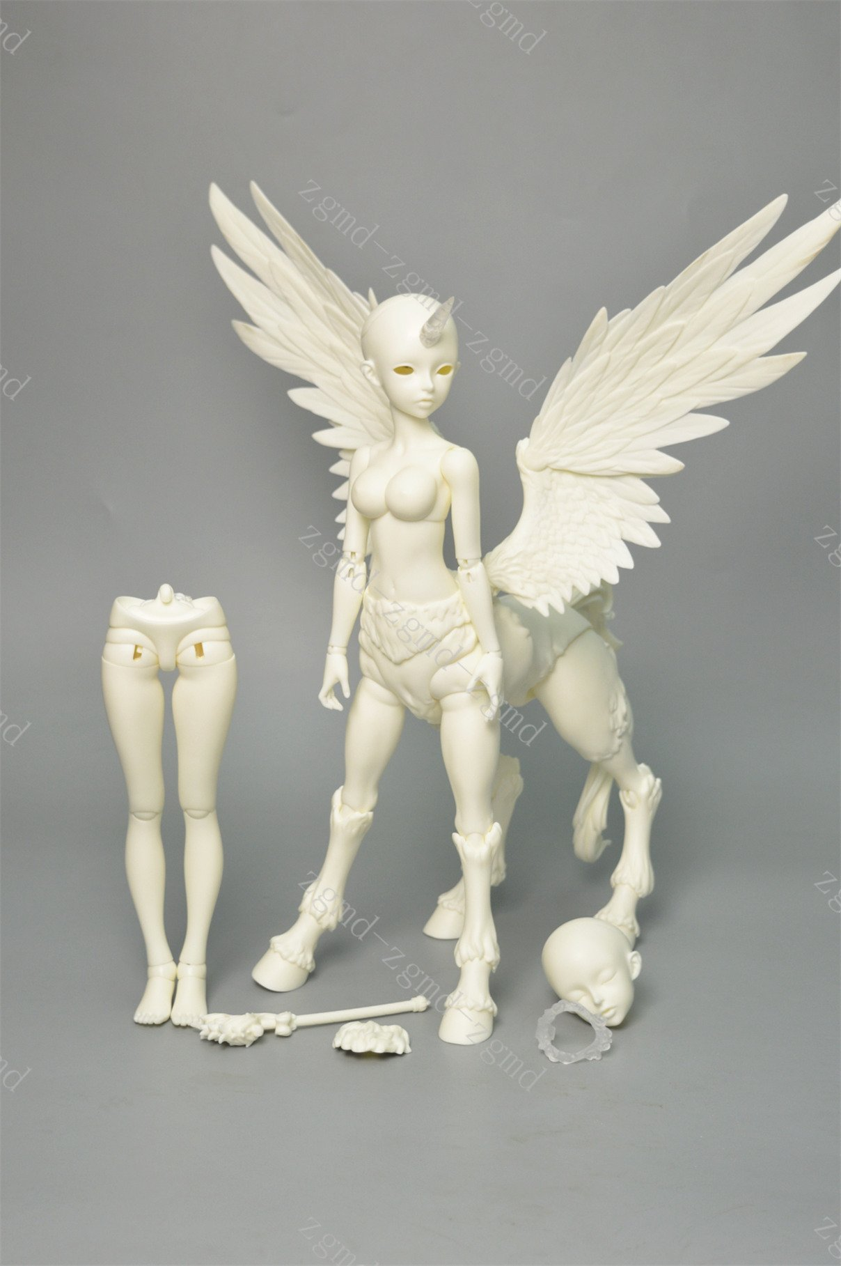 Zgmd 1/4 BJD doll SD White skin flying horse without make-up body of custom and the doll