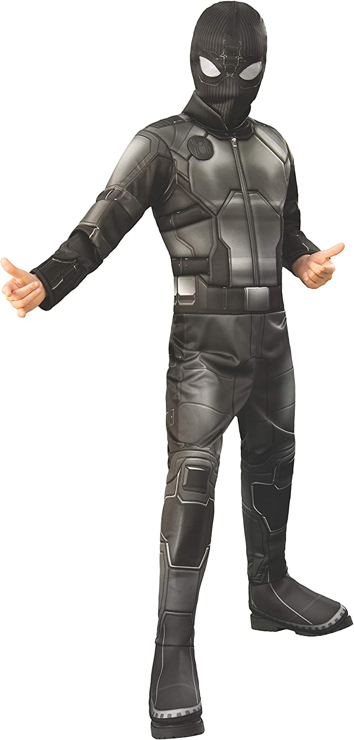 Boys Spider-Man Far From Home Black Stealth Spidey Suit Deluxe Costume