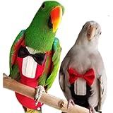 2 Pack Pet Bird Uniform Tuxedo Flight Suit for Wedding Anniversary Christmas Party Birthday Cosplay Photo Prop…
