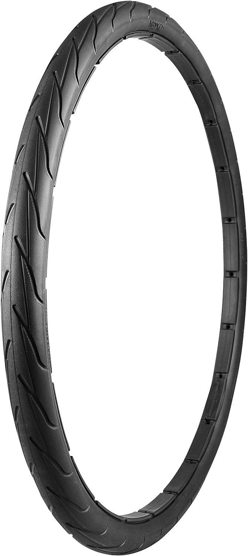 NEXO Tires 自転車用タイヤ [700x40c] 2本セット NEXOソリッドタイヤ [ブラック] チューブ無し 空気入れ不要でパンク知らず 黒