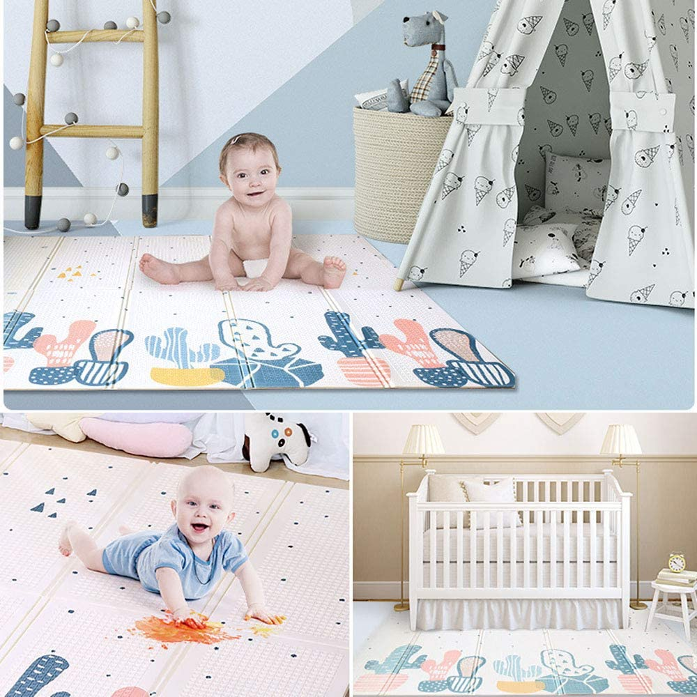 180cm*200cm Arkmiido Baby Play Floor mat,Folding XPE Baby mat for Floor Extra Thick 1cm,Water Proof and Large Soft for Toddler.