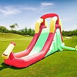 GYMAX Large Bouncy Castle Children Kids Inflatable Climbing Water Slide (Bouncy Castle)