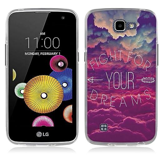 1 opinioni per LG K4 Cover, Fubaoda Alta qualità Stile popolare Dire TPU Skin Cover Protettiva