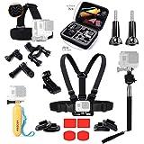 ASOCEA Essential Accessories Bundle Kit with case for GoPro Hero5 Black Hero 4 Session AKASO EK7000 4k 12MP Pictek ODRVM Gitup git2 Sports Camera Accessories Set in Outdoors