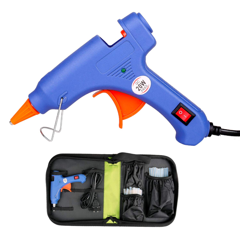 with 50pcs Glue Sticks & Bag, Mini Glue Gun Kit, 20W Hot Glue Gun Super Glue Gun for DIY, Handmade Craft, Sealing, Quick Repairs