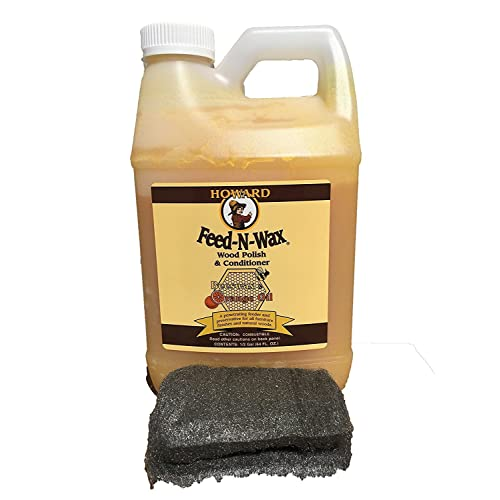 Howard Feed-N-Wax Restorative Wood Polish and Conditioner 64oz 1/2 Gallon - Beeswax Wood Finish: Amazon.com