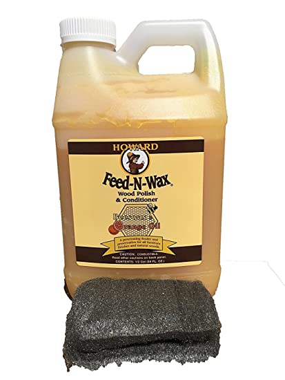 Howard Feed-N-Wax Restorative Wood Polish and Conditioner 64oz 1/2 Gallon - Amazon.com: Howard Feed-N-Wax Restorative Wood Polish And
