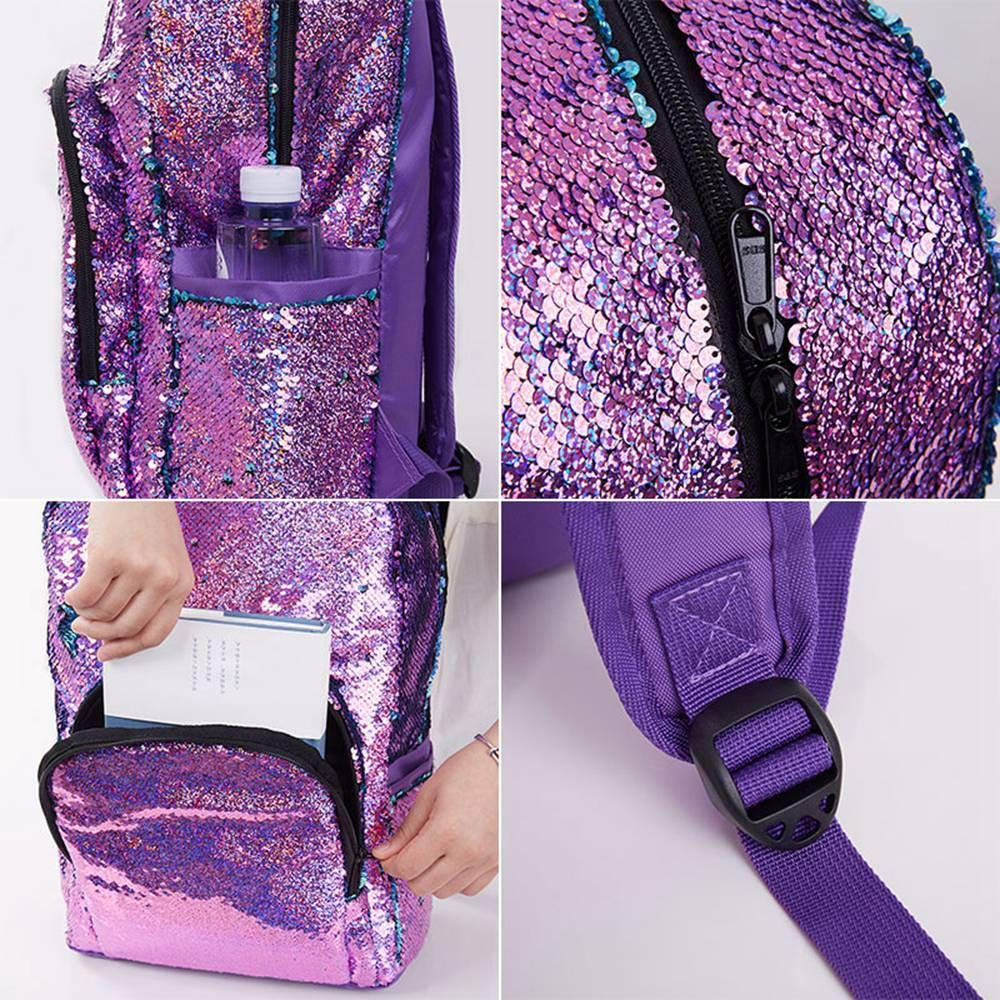 Amazon.com: Layopo Flip Sequin Backpack, Glitter Reversible Sequins Backpack, Durable Sequence Backpack for Girls, Travel Mermaid School Bag Lightweight ...