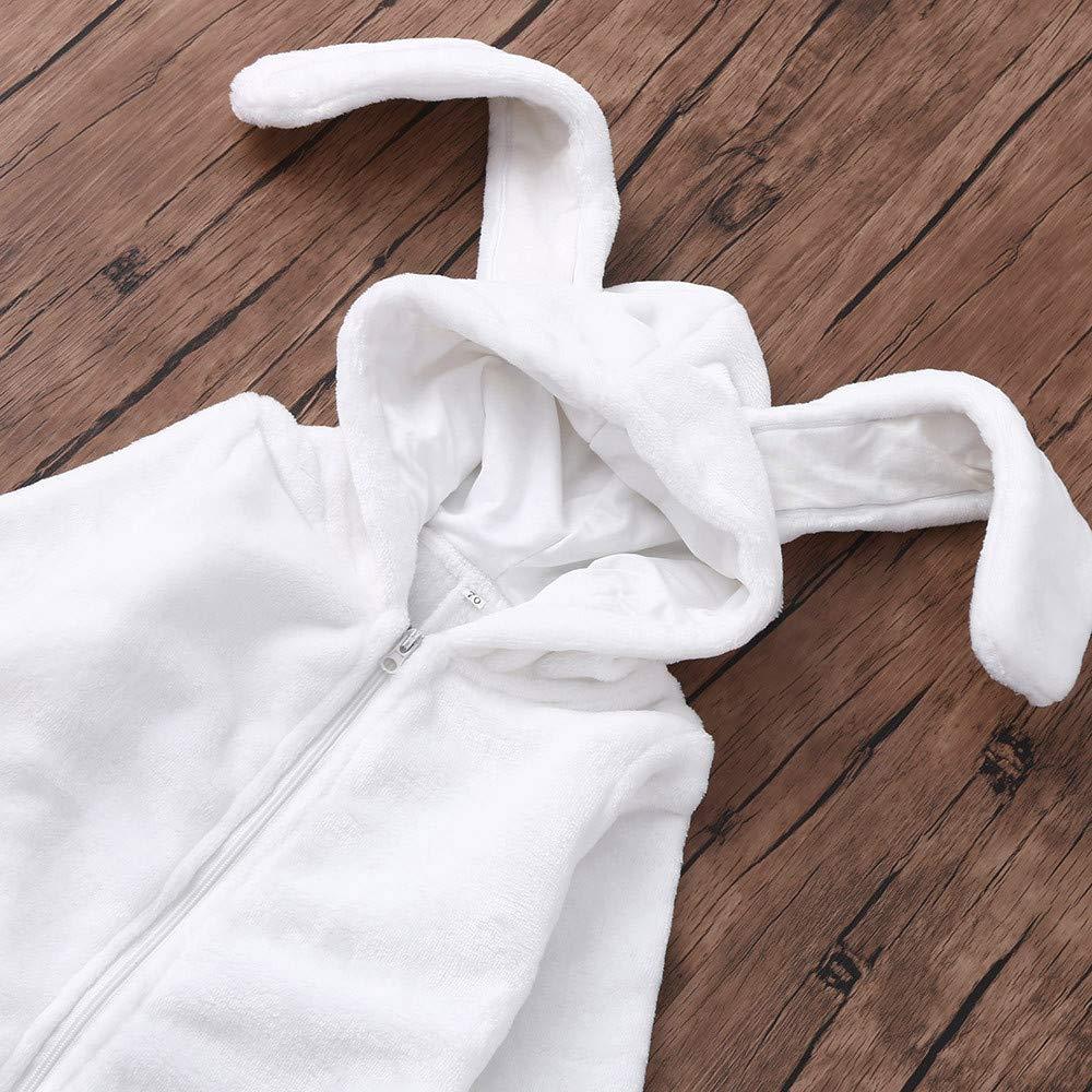 JoJody Grenouill/èRes Hiver B/éB/é Gar/çOn Fille Naissance 0-24 Mois Manches Longues Combinaison Barboteuse /à Capuche Mignon Lapin Oreille Ensemble De Pyjama Jumpsuit