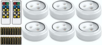 Brilliant Evolution LED Puck Light 6 Pack with 2 Remotes