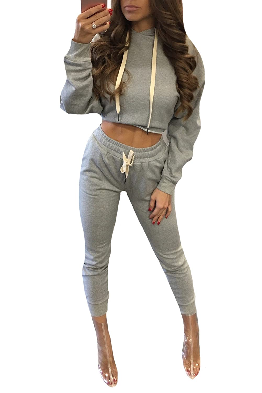 Tootlessly-Women Chándal - para mujer Gris gris US XS: Amazon.es ...