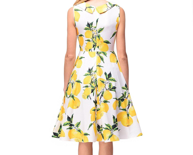 Small-shop dresses velocidad vende explosiones de Mujeres transfronterizas Vestido de tubo Estampado Hepburn at Amazon Womens Clothing store: