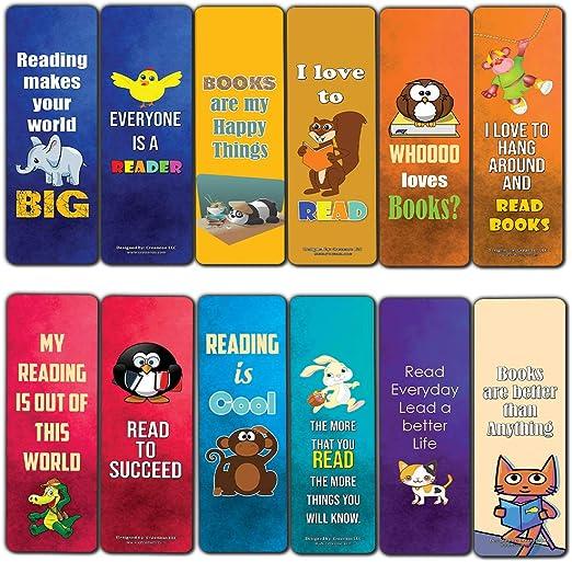 Inspiring Animal Reading Sayings Bookmark (60-Pack)