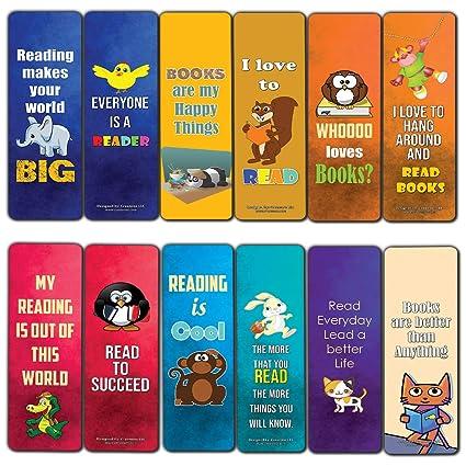 8fb574cf033b Amazon.com : Creanoso Inspiring Bookmarks for Kids (12-Pack ...