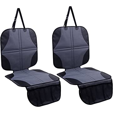 top best Ohuhu 2-Pack Baby Child Car Auto Carseat Seat Protector Cover Dog Mat Vehicle Cover With Organizer