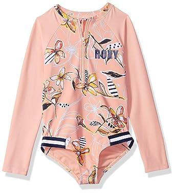 c42e2b4a51f7a Amazon.com  Roxy Girls  Let s Be Long Sleeve Onesie Swimsuit  Clothing