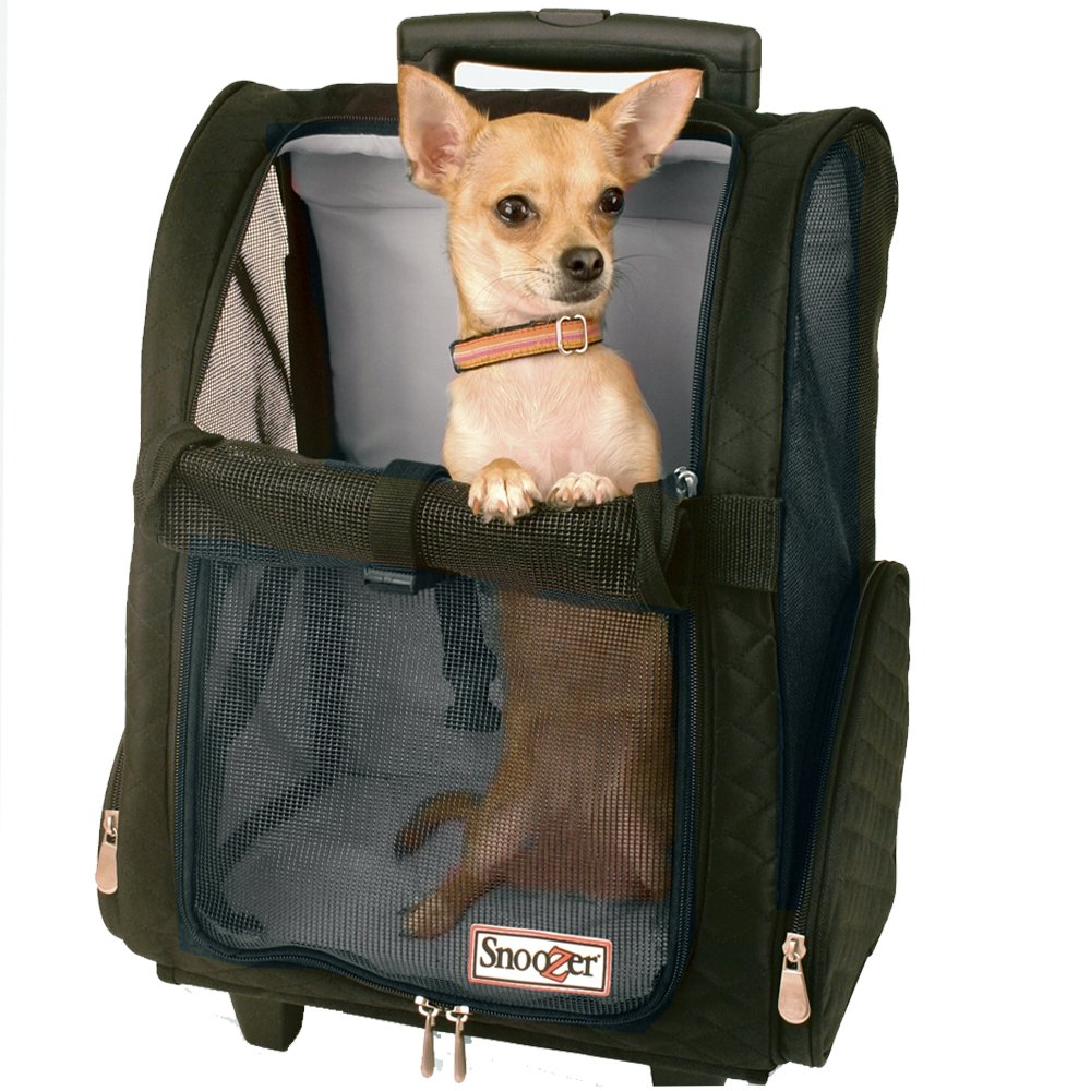 Snoozer Roll Around 4-in-1 Pet Carrier, Black, Large by Snoozer