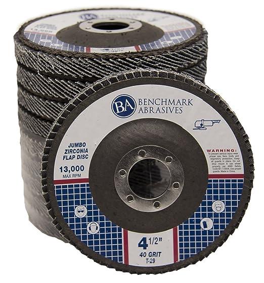 "10 Pack 4.5/"" x 5//8/""-11 XL 60 Grit Zirconia High Density Flap Discs T27 with Hub"