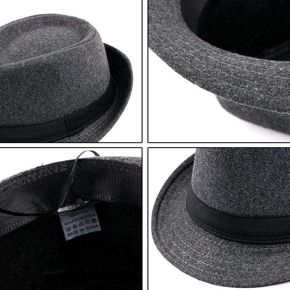 Cappello Jazz Fashion universale Cappello Jazz britannico Cappello in lana sintetica a tesa corta per anziani di mezza et/à