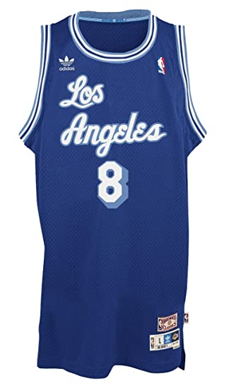 best website be801 75591 adidas Kobe Bryant Los Angeles Lakers Blue Throwback Swingman Jersey