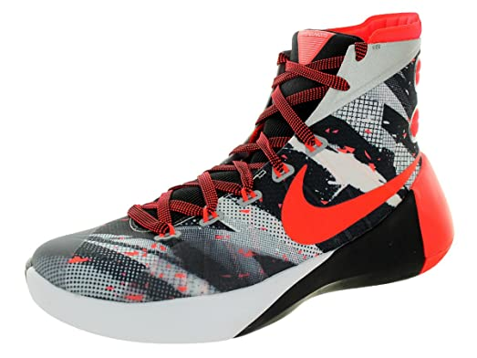 Men's Nike Hyperdunk 2015 Premium Basketball Shoe White/Black/Bright  Crimson Size 11.5 M