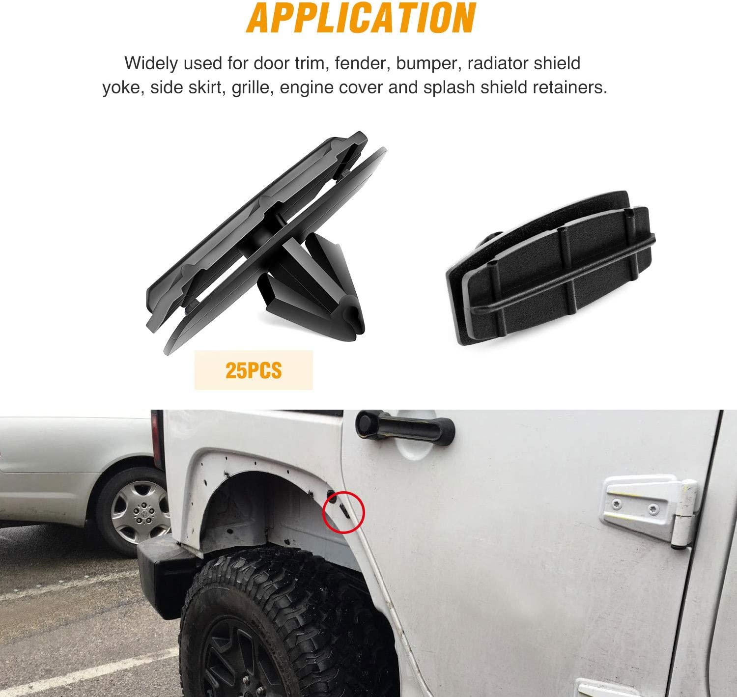 SILL /& ROCKER COVER MOULDING FASTENER TRIM CLIPS FORD EXTERIOR SIDE SKIT