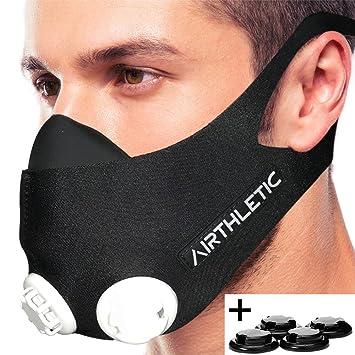 AIRTHLETIC Training Mask - Máscara de entrenamiento profesional para entrenamiento en altitud
