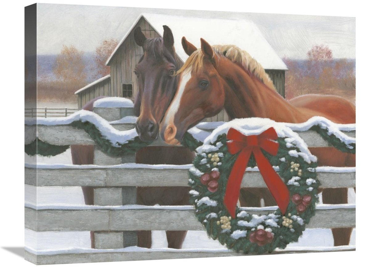 Christmas in The Heartland II Giclee Stretched Canvas Artwork 24 x 20 Global Gallery James Wiens