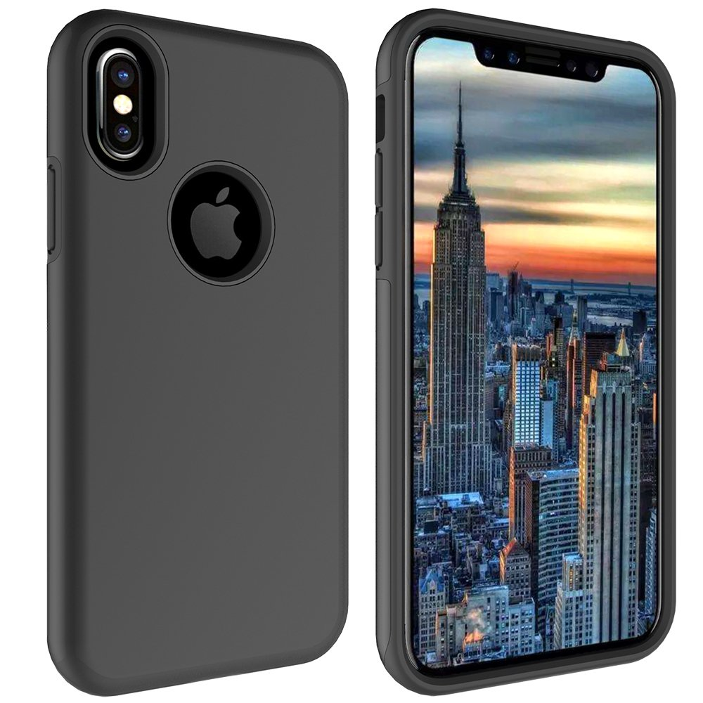 iPhone X Case, MagicSky Slim Corner Protection Shock Absorption Hybrid Dual Layer Armor Defender Protective Case Cover for Apple iPhoneX - Black