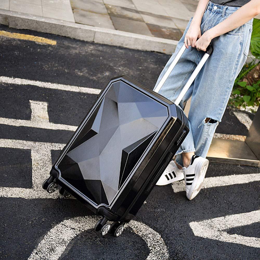 DS-トロリー トロリーケース - ABS/PC、合理的なレイアウト、傷のつきにくいブラッシュ仕上げ、スタイリッシュな防水性、清掃しやすい人格ユニバーサルホイール学生ビジネスパスワードスーツケース - 4色、3サイズあり && (色 : 黒, サイズ さいず : 36*23*55cm) B07MQL9ZZJ 黒 36*23*55cm