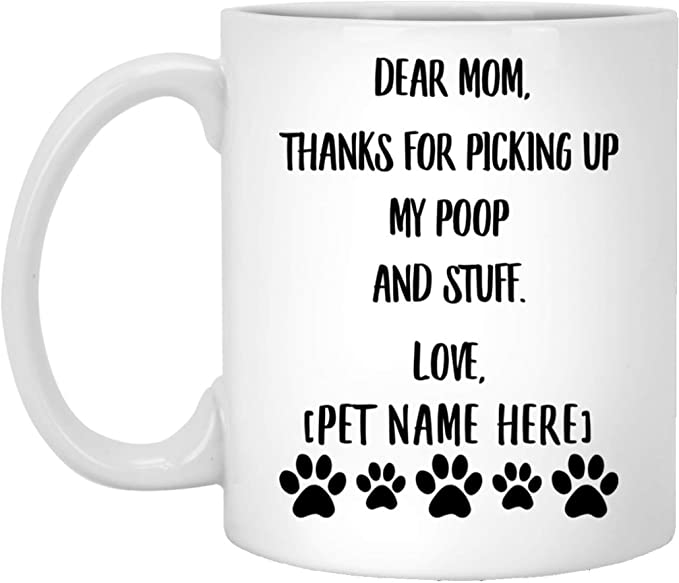 Details about  /Large Poodle Mug White Coffee Cup Gift for Best Dog Mom Dad Grandma Standard Toy