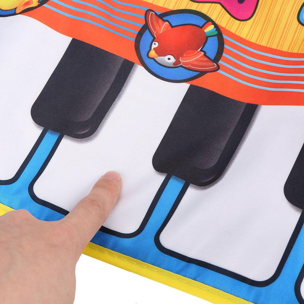 FTVOGUE Beb/é Electr/ónico M/úsica de Piano Estera de Juego Sonidos de Animales Teclado Musical Rastreo Manta Ni/ños Regalo de los ni/ños