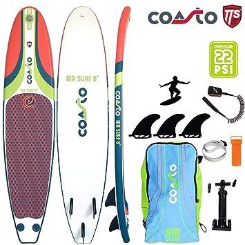 Coasto Air Surf 8 Hinchable Tabla de Surf Surf Us-Finnen ...