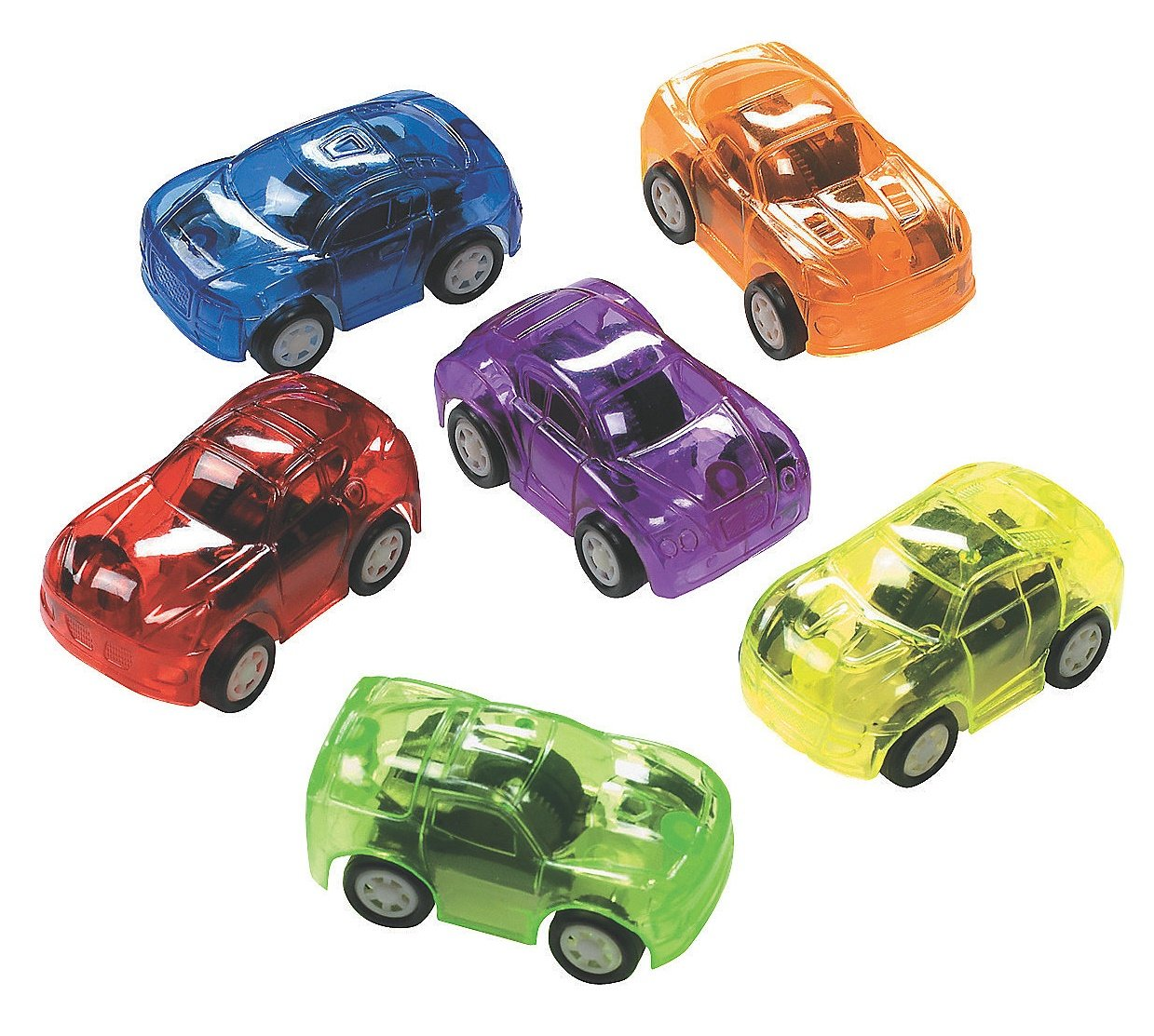 Amazon.com: 12 Plastic Transparent Pull Back Toy Cars: Toys & Games