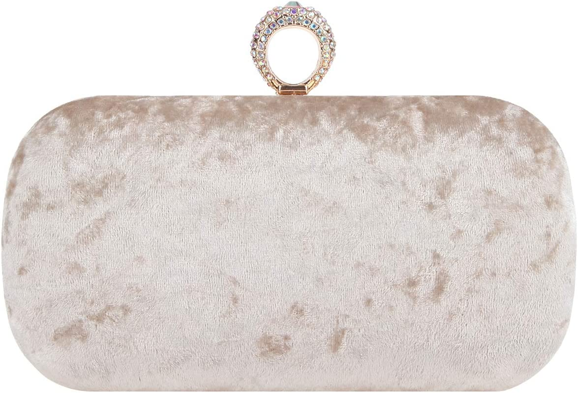 Bonjanvye Luxury Clutches Diamond Clutch Purses for Women Evening Bags
