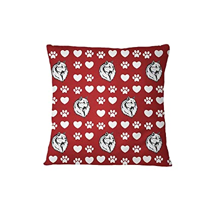 Amazon.com: Volpino Italiano Dog Red Paw Heart Sofa Bed Home ...