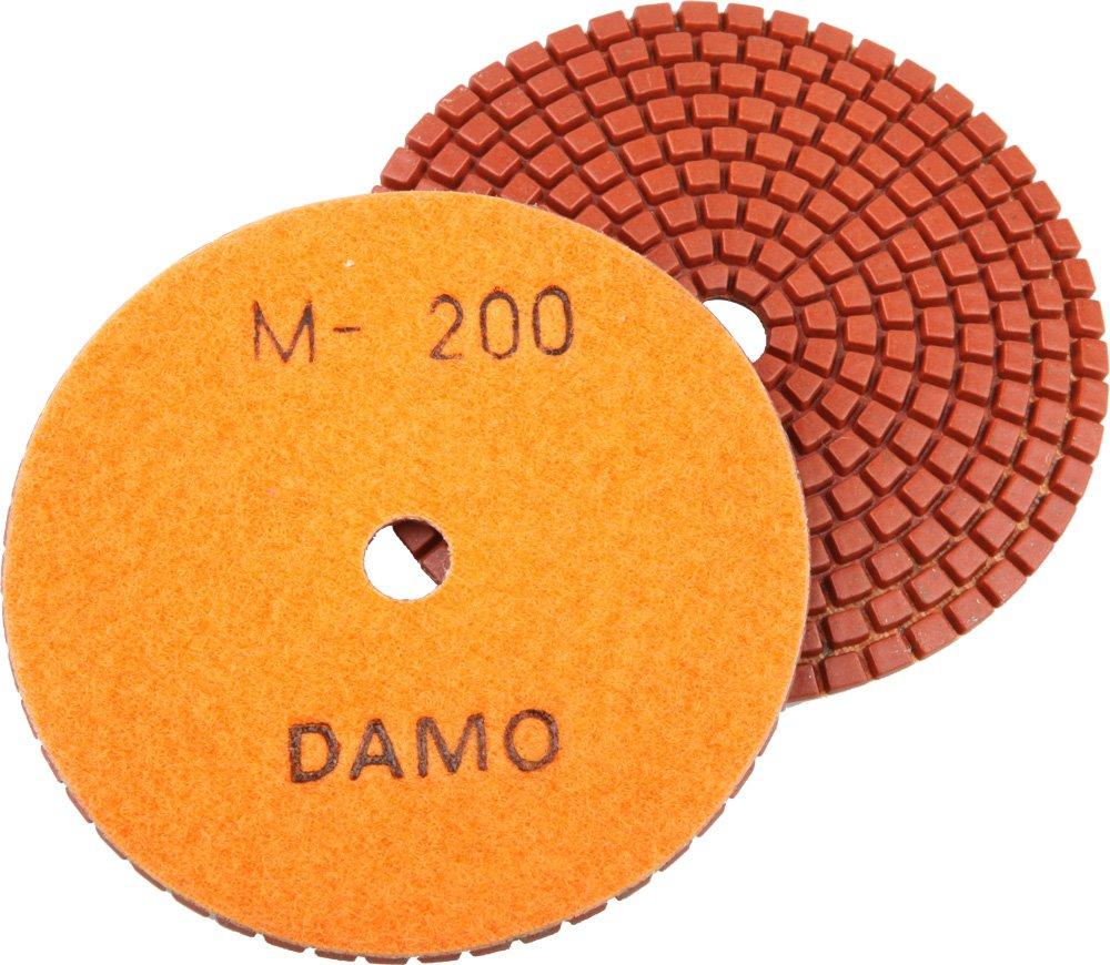 DAMO Diamond Polishing Pad 5 inch Dry Grit 800 for Marble Granite Concrete Countertop Floor Polish