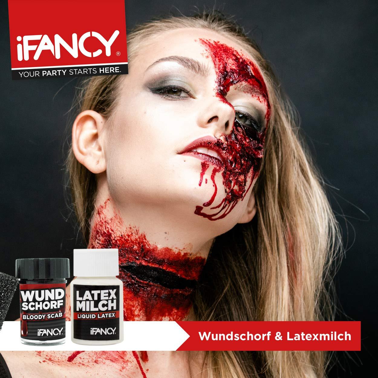 Ifancy Zombie Makeup Set Wundschorf Blut Latexmilch Zum Wunden