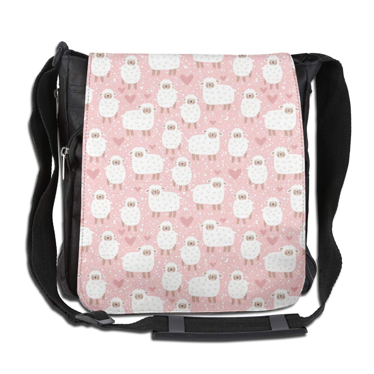 Cute Sheep Fashion Diagonal Single Shoulder Workout Bag