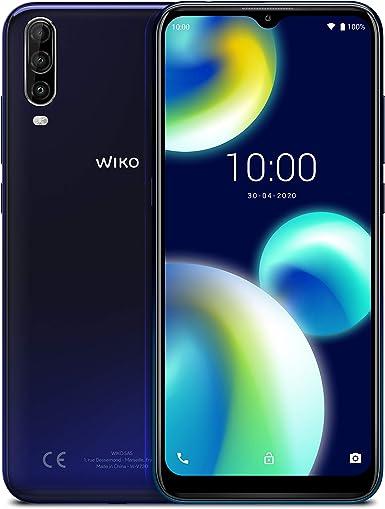 """Wiko View4 Lite - Smartphone de 6.52"""" HD+ IPS (Triple Cámara, 4000mAh para 2 días de autonomía, Octa-Core 1.8 GHz, 32GB de ROM, 2GB de RAM, Android 10, Dual SIM) Deep Blue: Amazon.es: Electrónica"""