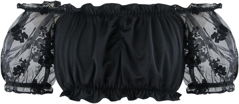 vestito nero punk COSWE Vestito da donna di pizzo con taglio irregolare