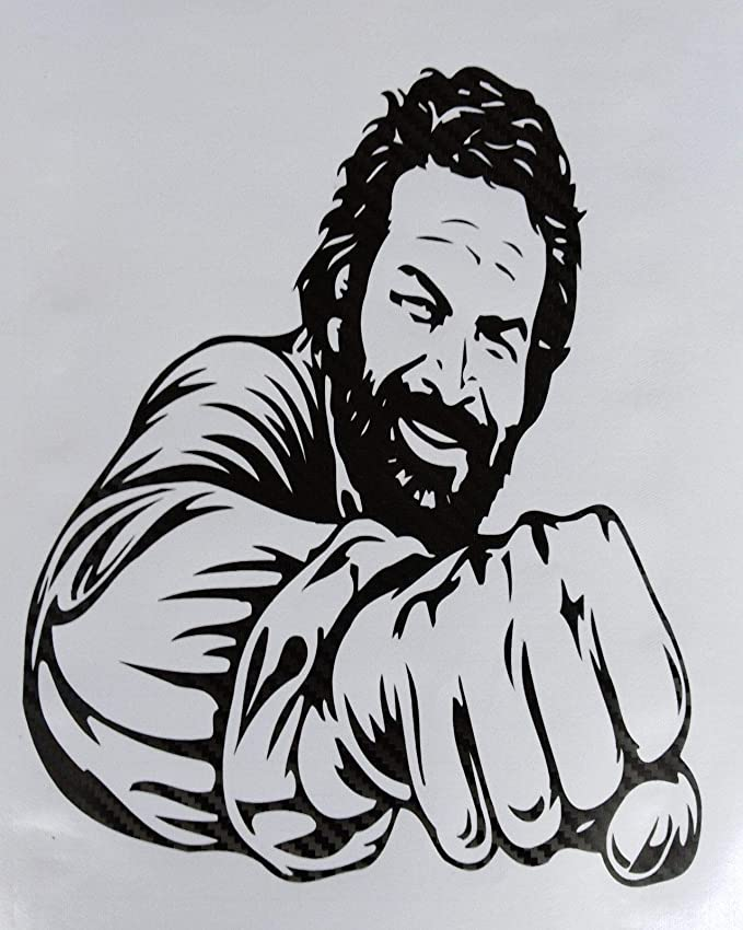 Superstiki Bud Spencer Faust Carbon Car Sticker Tuning Approx 20 Cm High Performance Film For All Smooth Surfaces Uv And Car Washproof Tuning Professional Quality Auto