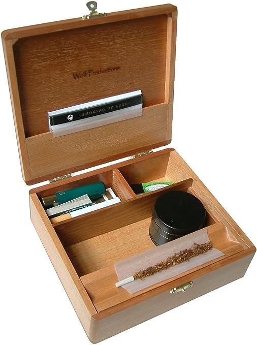 Compra Caja para guardar accesorios de fumador Wolf T3 (madera de ...