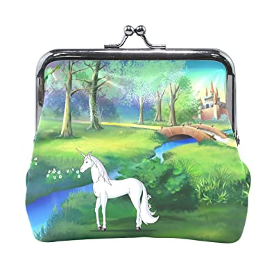 Amazon.com: Monederos blanco, bosque Unicorn Magic castillo ...