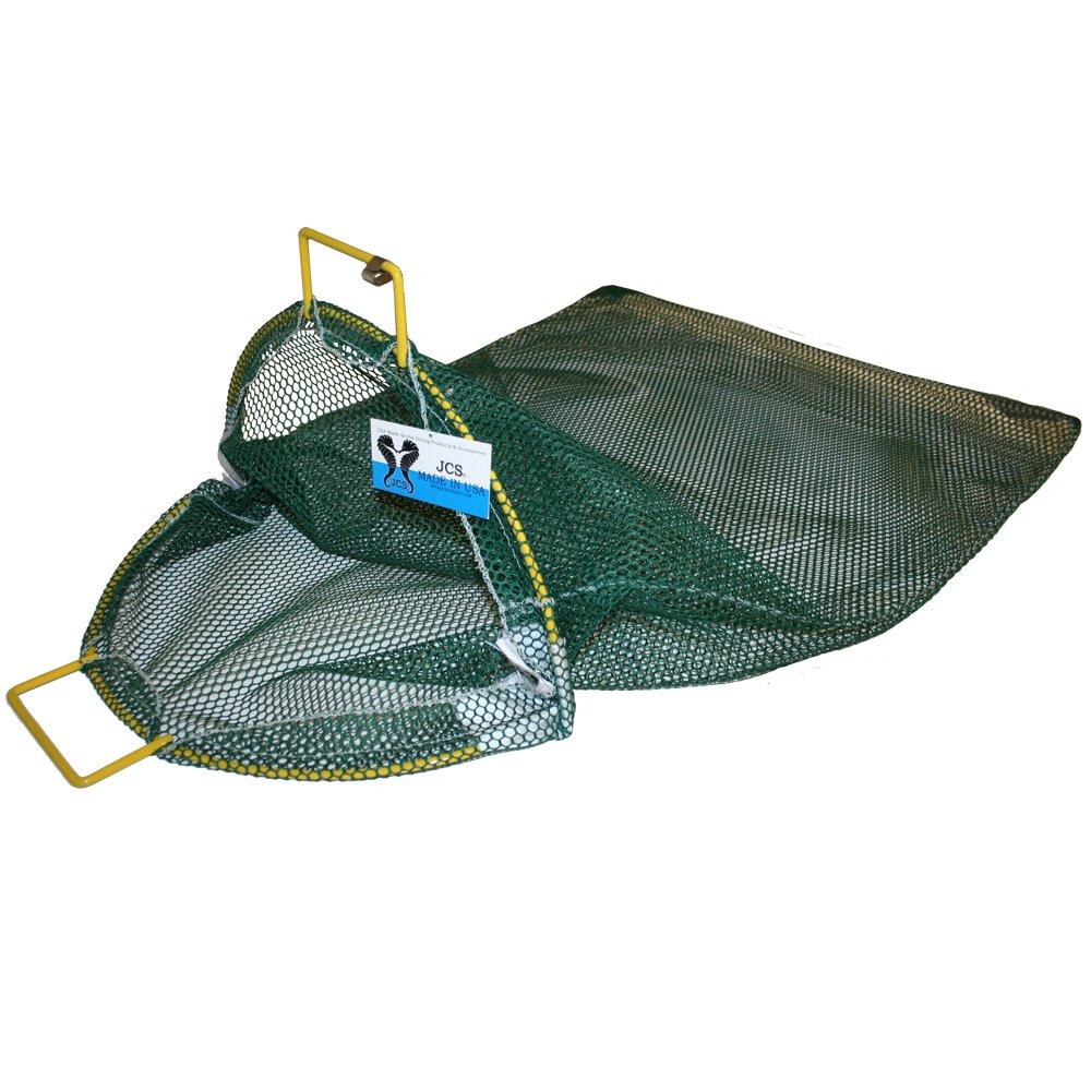 JCS XLプラスチックコーティング亜鉛メッキワイヤハンドルメッシュキャッチ人気バッグ、約24インチx 33インチ、7色 B00IEP8OG0 イエロー