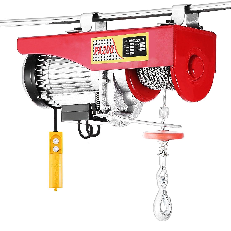 Happybuy 1500LBS Lift Electric Hoist 110V Electric Hoist Overhead Crane Lift Electric Wire Hoist Remote Control 1500LBS