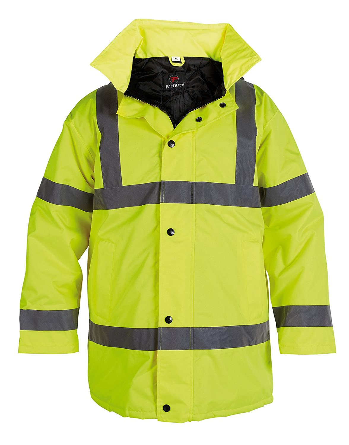 ProForce Class 3 Contractor High Visibility Coat Hi-Vis Hi-Viz Work Site Jacket - Yellow or Orange HJ13