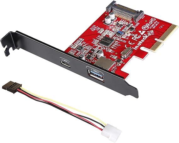 Inateck Tarjeta de Interfaz PCI-E (PCI Express) a USB 3.1 Tarjeta ...