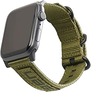 URBAN ARMOR GEAR UAG Compatible Apple Watch Band 44mm 42mm, iWatch Series 6/5/4/3/2/1 & Watch SE, High Strength Nylon Weave Replacement Strap, Nato Olive Drab